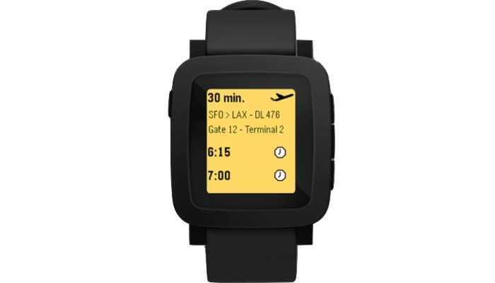 ساعت هوشمند Pebble با صفحه نمایشی رنگی و دکمههای کوچکتر