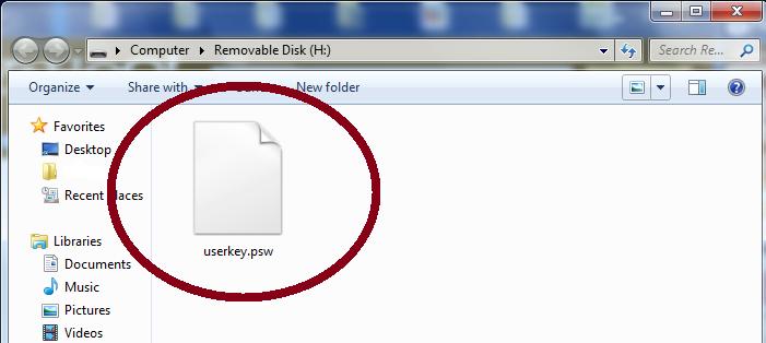 user key