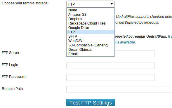 Updraft-FTP-Settings