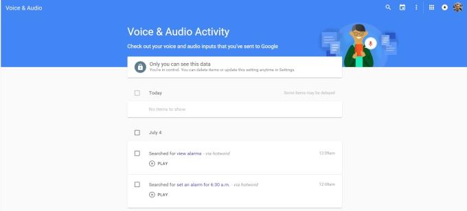 چگونه تاریخچه ی جستجوی صوتی گوگل را پیدا کنیم، گوش کنیم و پاک کنیم