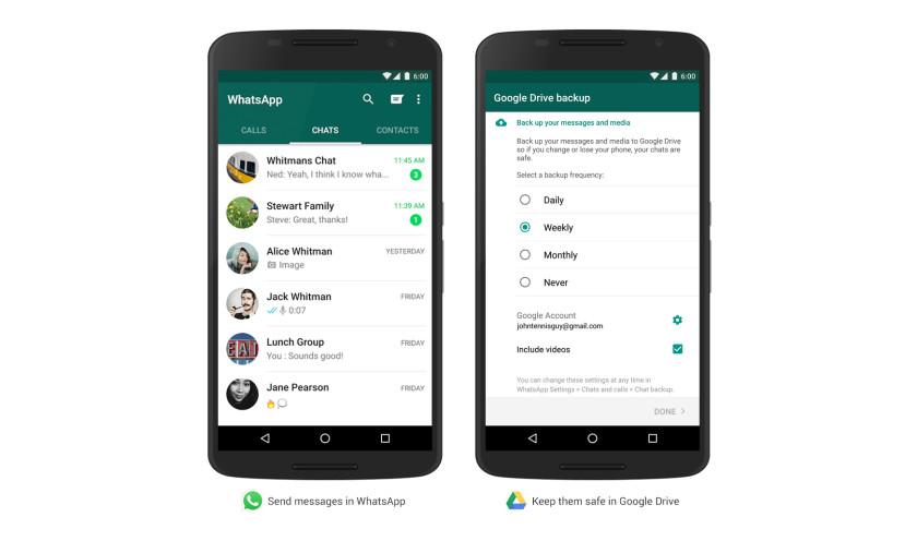 پشتیبان گیری از پیام ها در What's App به کمک Google Drive
