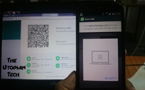 اسکن کد QR برای واتس اپ