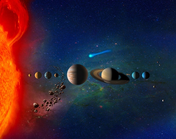 Why celestial bodies come in different sizes