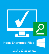 Windows 8 Index Encrypted Files