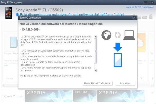 Android  نسخۀ ۴٫۳ (Jelly Bean) برای Xperia Z1 و Xperia Z Ultra