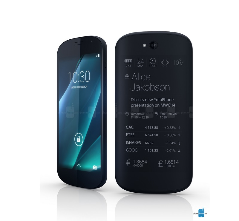 آغاز عرضه گوشی YotaPhone با شروع کمپین وب سایت Indiegogo