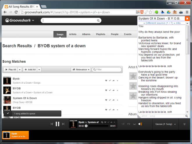 YouTube-Lyrics-grooveshark