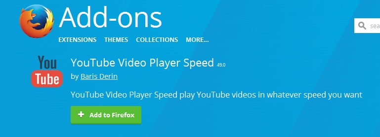 YouTube Video Player Speed