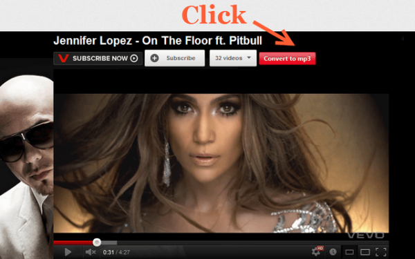 YouTube to MP3 Button