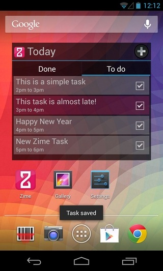Zime-Android-Widget