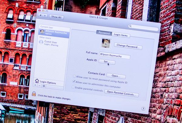 آموزش اتصال اپل آیدی به یوزر اکانت سیستم عامل Mountain Lion
