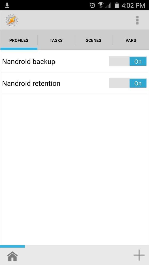 """Nandroid backup"" ""Nandroid retention."""