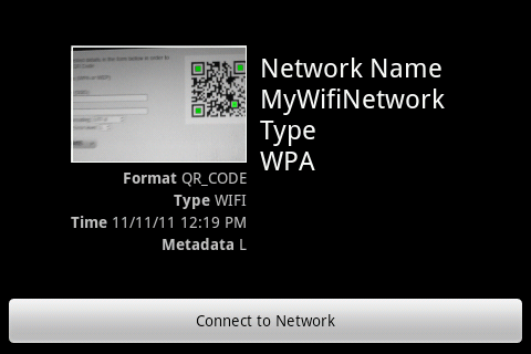 با کدهای QR به شبکه های بی سیم متصل شده و به اشتراک بگذارید (اندروید)