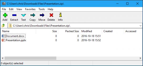 فشرده سازی فایل در ویندوز