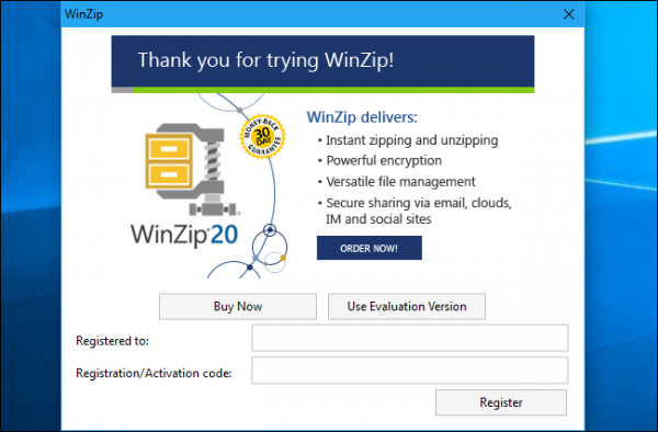 WinZip و WinRAR برای فشرده سازی فایل