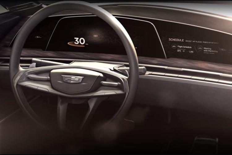 تصویر کابین خودروی جدید کادیلاک با نمایشگر OLED به بیرون درز کرد