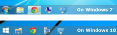 Transparent taskbar in Windows 10