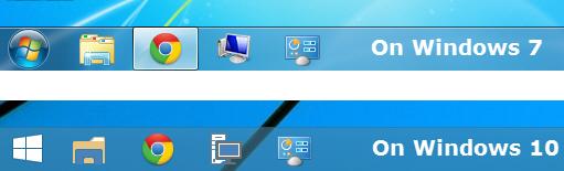 Transparent taskbar in Windows 10