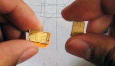 تبدیل سیم کارت میکرو به نانو