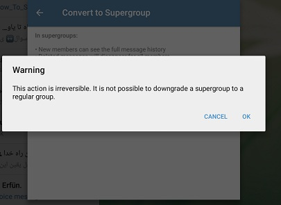 تبدیل گروه به سوپر گروه