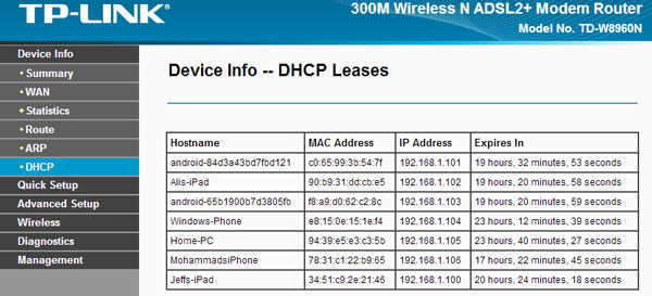 dhcp_devices_list