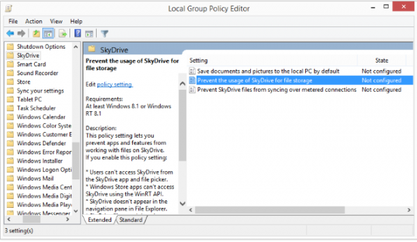 disable-skydrive-windows-8.1