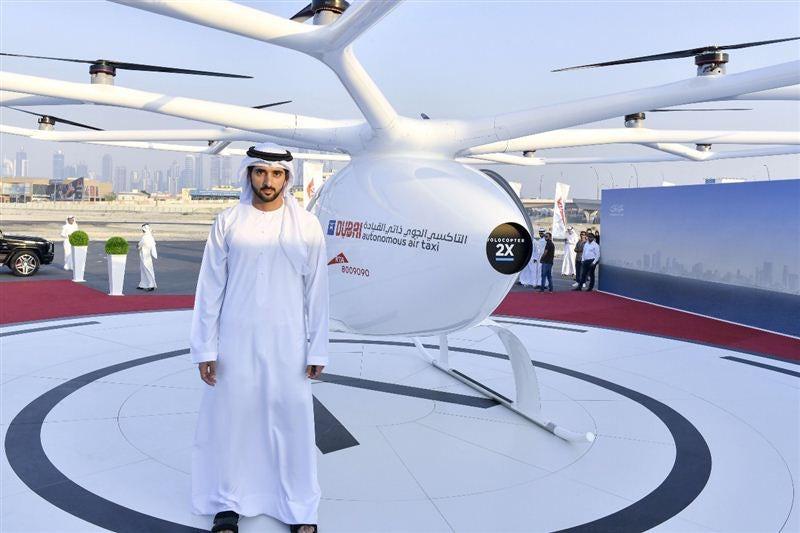 دبی و آزمایش اولین تاکسی پرنده در دنیا