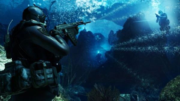 نمایی از مرحله ای که در زیر آب اتفاق می افتد