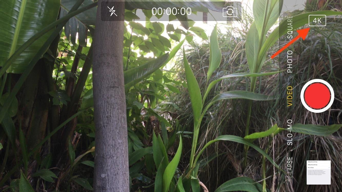 آیفون ۷ از قابلیت ضبط ویدیو ۴K با نرخ ۶۰ فریم بر ثانیه پشتیبانی می کند
