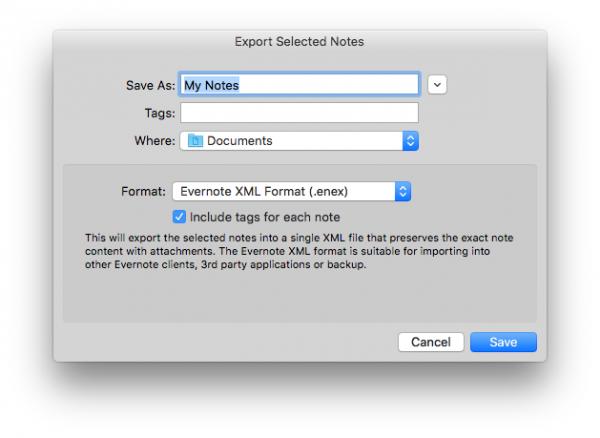 export evernote notes 600x438 راهنمای انتقال یادداشت های Evernote به macOS اخبار IT