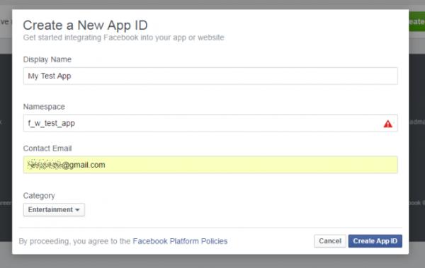 ساخت اپلیکیشن فیسبوک