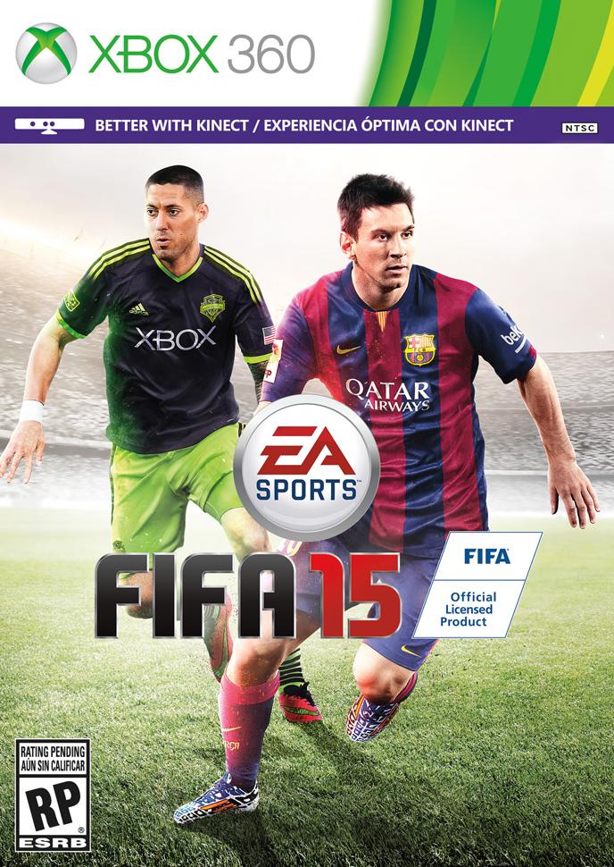 دمپسی و مسی روی کاور FIFA 15 !