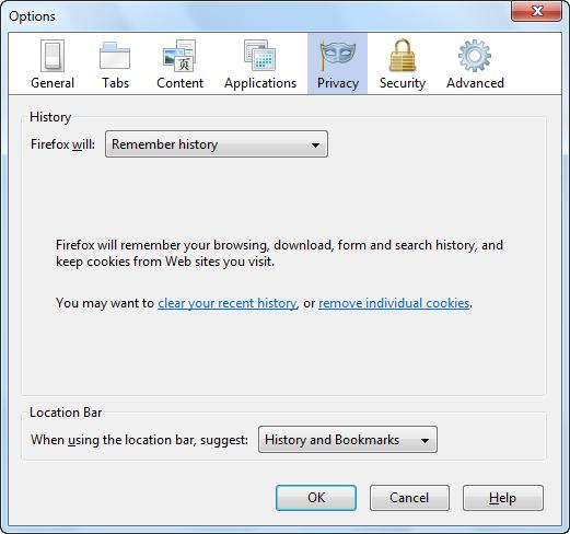 firefox options 18 راهنمای جامع تنظیمات مرورگر فایرفاکس Mozilla Firefox