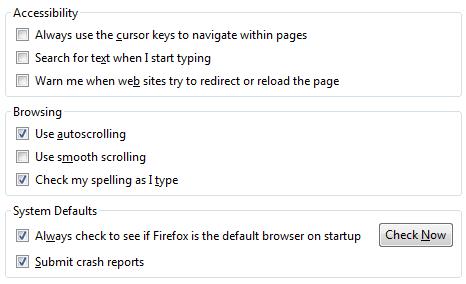 firefox options 33 راهنمای جامع تنظیمات مرورگر فایرفاکس Mozilla Firefox