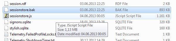 بازگردانی سشن های فایرفاکس در صورت بروز خطا