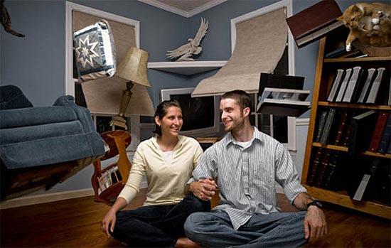 عکس تصویر فتوشاپی خندهدار از زندگی زناشویی