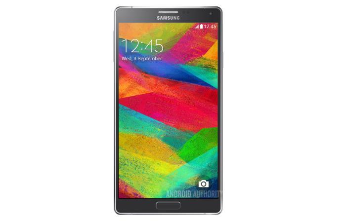 نمایش تصویر Galaxy Note 4 در وبسایت سامسونگ و عکس پوستری در نمایشگاه IFA