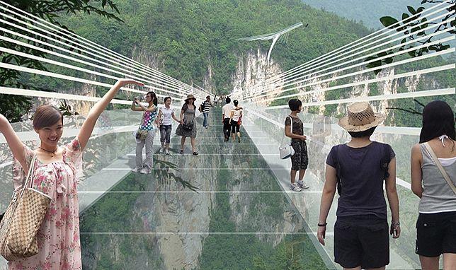 طولانی ترین پل شیشه ای جهان سال آینده در چین افتتاح می شود