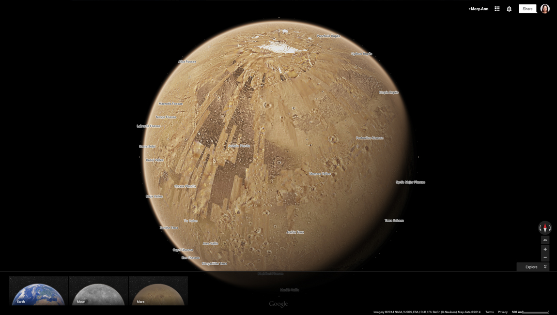 از این پس، با گوگل مپس به سیارات منظومه شمسی سفر کنید