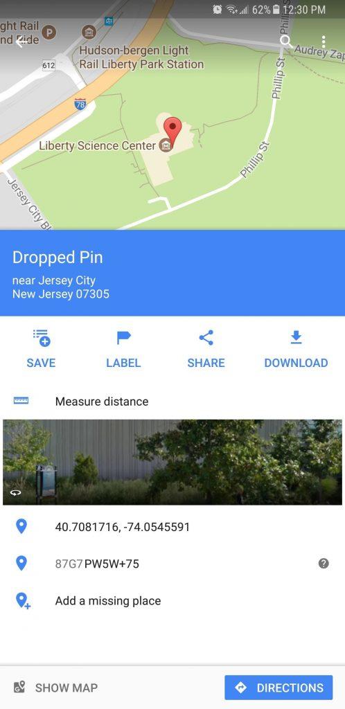 اندازه گیری فاصله چیزها توسط Google Maps