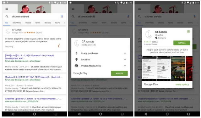 امکان نصب مستقیم اپلیکیشن ها از نتایج جستجوی Google