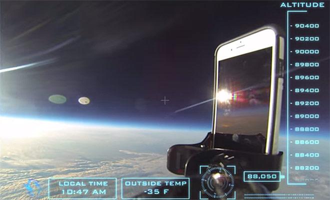 تست سقوط بسیار جالب آیفون ۶ از فضا به زمین!