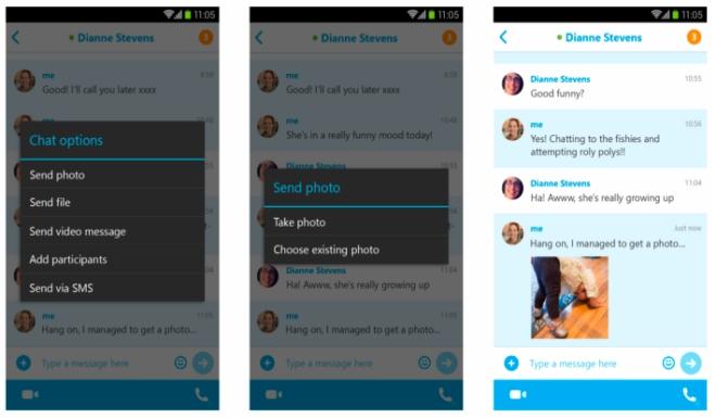 نسخه جدید اسکایپ برای اندروید از قابلیت اشتراک گذاری آفلاین تصویر پشتیبانی می کند