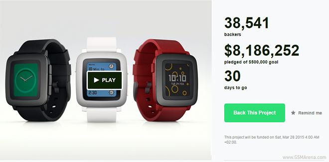 استارتآپ ساعت هوشمند Pebble Time فقط ۲۴ پس از شروع کار ۸ میلیون دلار سرمایه بدست آورد
