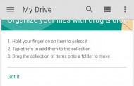 بروز رسانی Google drive 2.2: مدیریت فایل ها با کشیدن و رها کردن فایل