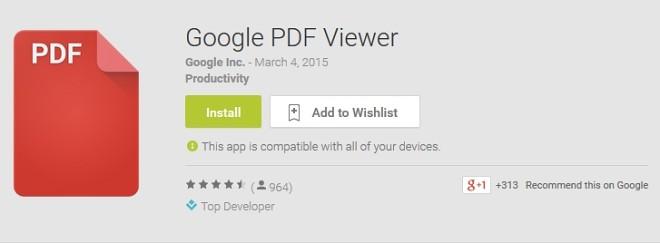 گوگل اپلیکیشن اختصاصی جدیدی برای مشاهده اسناد PDF منتشر کرد