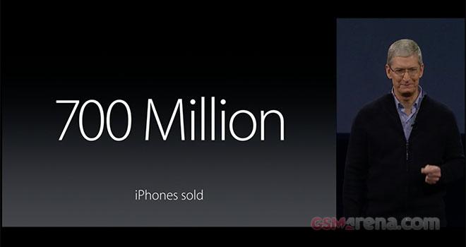 اپل تاکنون ۷۰۰ میلیون آیفون به فروش رسانده! هر سال ۴۹ درصد افزایش فروش