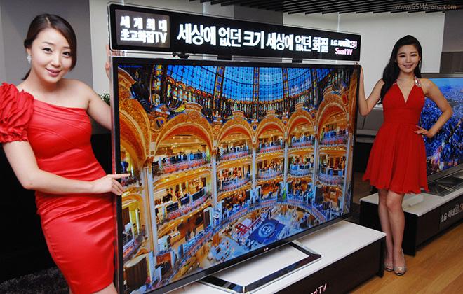 اولین تلویزیون 4K و 3D توسط LG با اندازه 84 اینچ