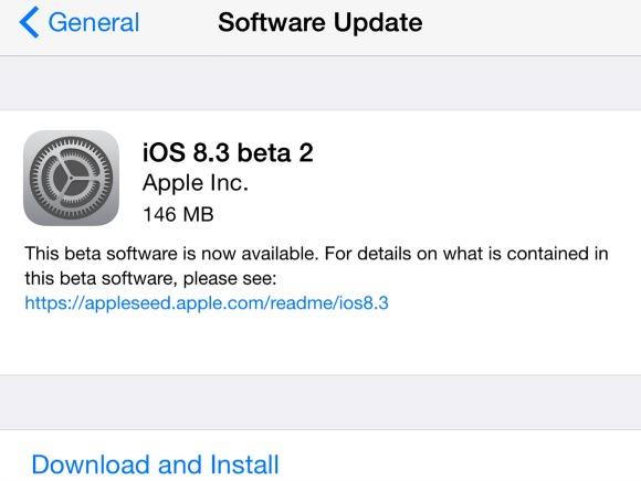 نسخه جدید بتا، iOS 8.3 برای تست توسط توسعه دهندگان عرضه شد