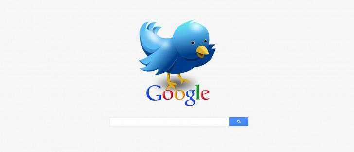 حالا گوگل در توییت های توییتر نیز جست و جو می کند